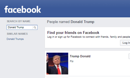 Facebook search without signing up